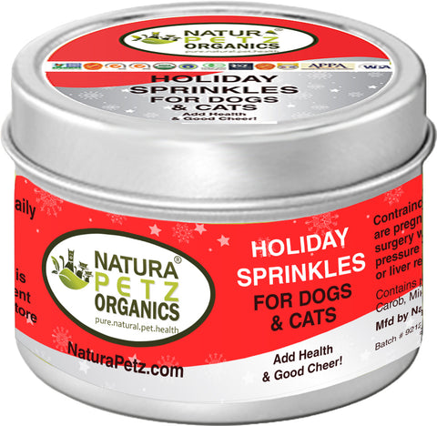 Pet Age Features HOLIDAY SPRINKLES MEAL TOPPER by Natura Petz Organics