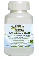 Natura Petz Organics I AM A ROCK STAR to help provide glandular support in dogs and raw diets for dogs.