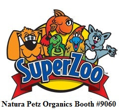 Natura Petz Organics Super Zoo Booth #9060 organic dog and cat treats toppers and balancers