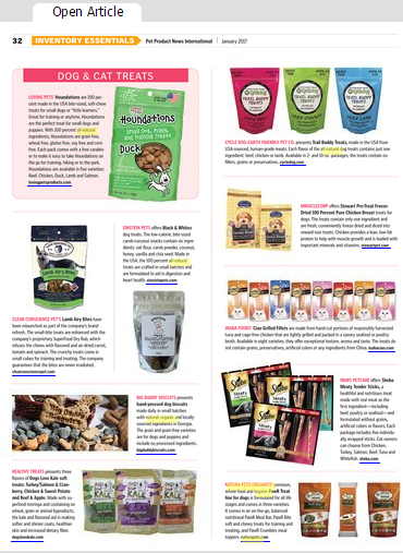 Pet Product News Features PawR Treats Natura Petz Organics Inventory Essentials