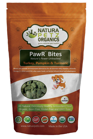 Natura Petz Organics PawR Bites perfectly balanced antioxidant treat for dogs