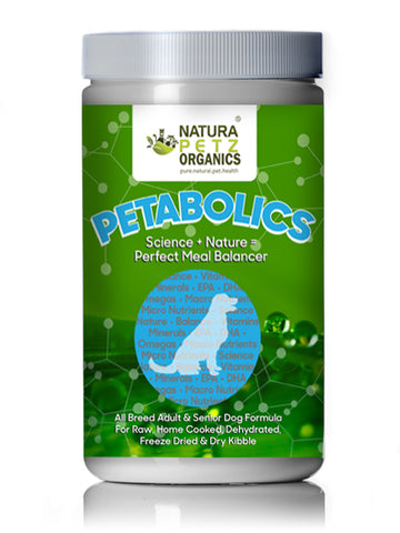 Natura Petz Organics Petabolics Meal Mixers for Adult and Senior Dogs to Perfect all Diets