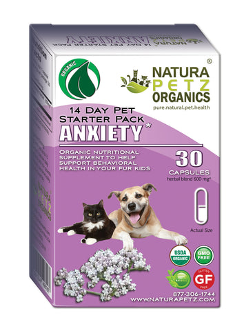 Natura Petz Organics Best Seller Anxiety Starter Pack for Dogs and Cats