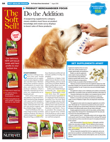 Pet Product News features Natura Petz Organics Inventory Essentials Do the Addition