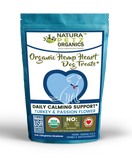 HEMP HEART DAILY CALMING SUPPORT DOG TREATS* 60 Pieces 9 oz TURKEY & PASSION FLOWER & CAROB