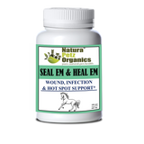 SEAL EM & HEAL EM CAPSULES EQUINE- Wound, Infection Ulcer Bite Bleeding & Hot Spot Support*