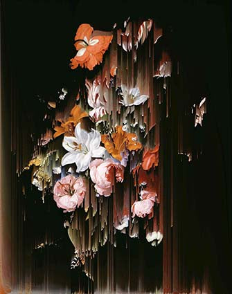 Flowers in a Glass Vase (after Rachel Ruysch)