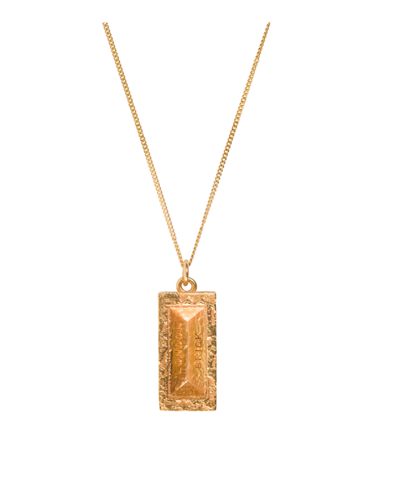 'The London Brick' - Gold Plated
