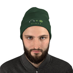 Mens Embroidered Beanie