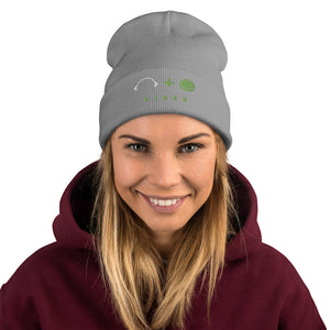 Womens Embroidered Beanie