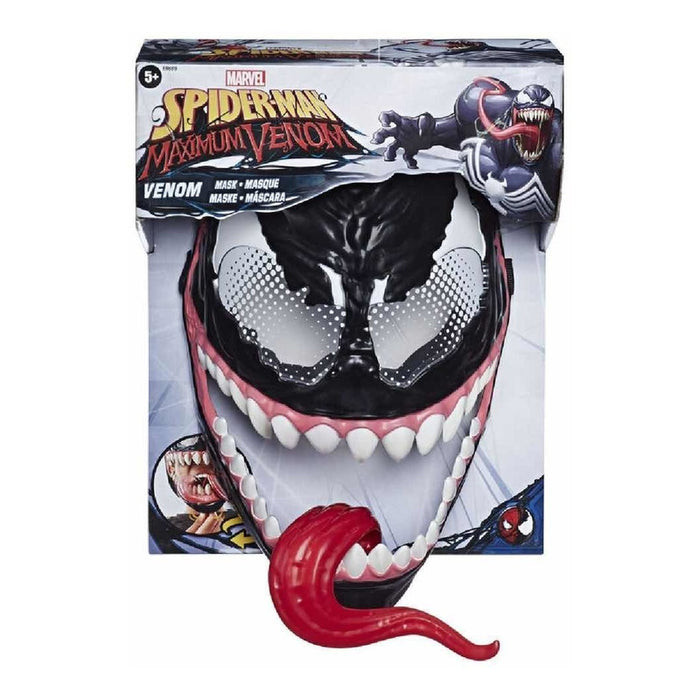 Mascara De Venom Spiderman Maximum Venom Hasbro Color Negro,Diseño Venom