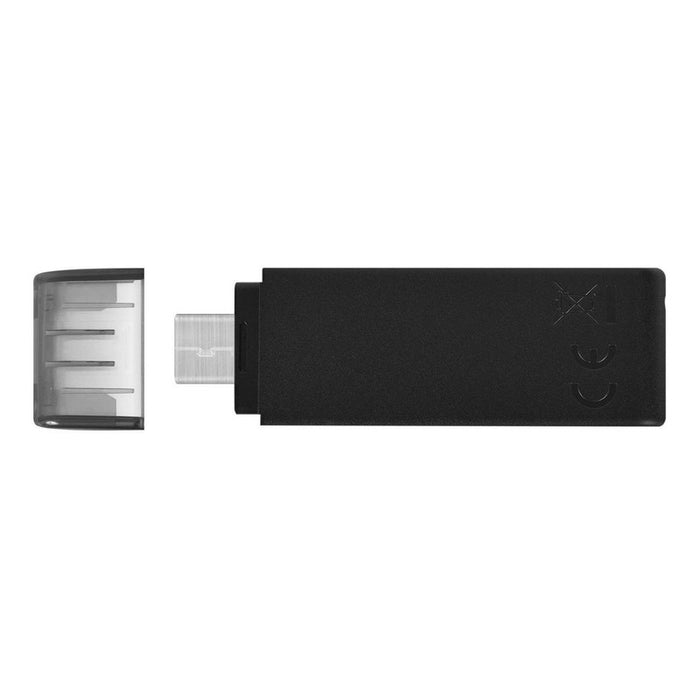 Memoria Usb Kingston Datatraveler 70 32gb Usb-c 3.2 Negro Color Negro,Nombre Del Diseño Tapa