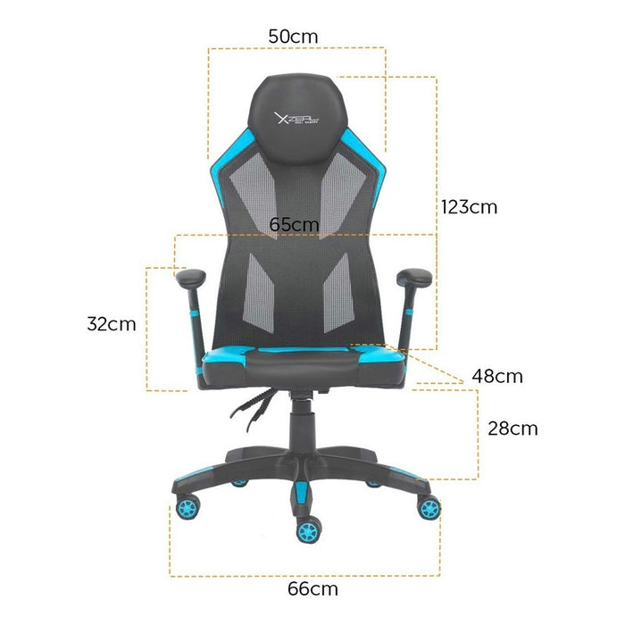Xzeal Silla Gamer Ergonomica Reclinable Malla Foam Azul Color Azul