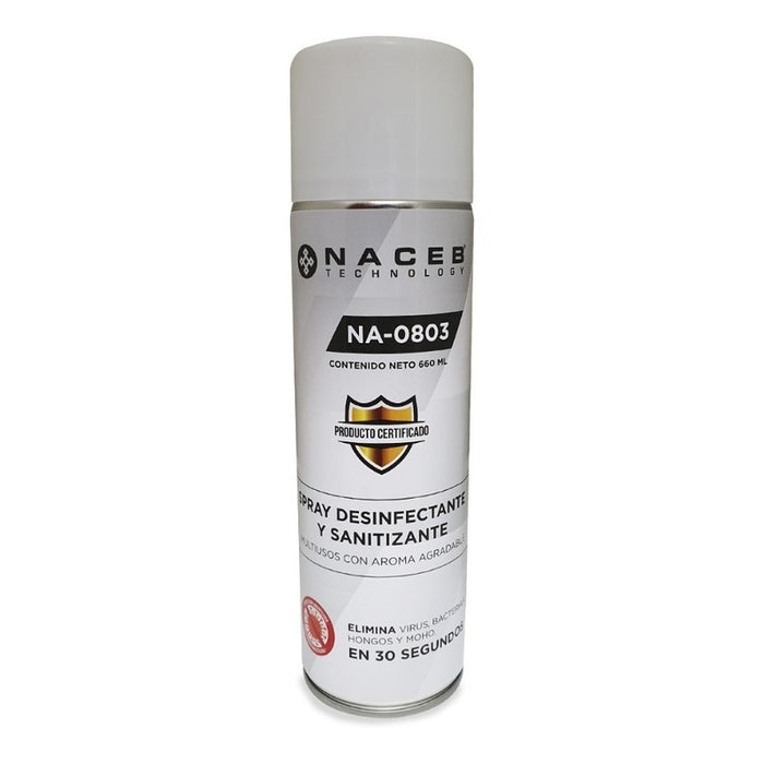 Desinfectante Spray Antibacterial Sanitizante Naceb 660ml