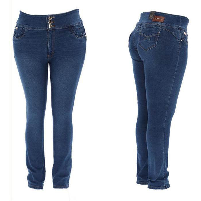 Pantalones Colombianos Jeans Dama Tallas Extra Mujer 26 Color Azul Tal Ventronic Mx