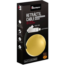 Cable Retractil 2en1 Micro Usb Lightning iPhone 1m 2.1a /v