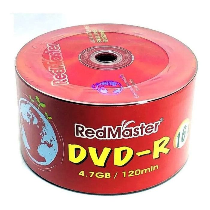 50 Disco Dvd -r Virgen Red Master 4.7 Gb 16x Calidad /e
