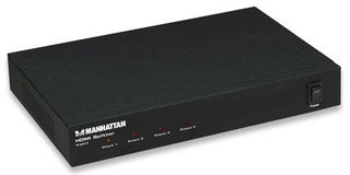 Manhattan Video Splitter HDMI, 4 Salidas, Negro