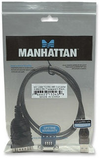 Manhattan Adaptador USB - RS485, Negro