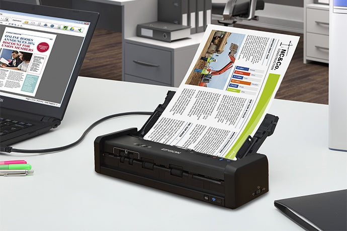 Scanner Epson WorkForce ES-300W, 600 x 600 DPI, Escáner Color, Escaneado Duplex, USB 3.0, Negro