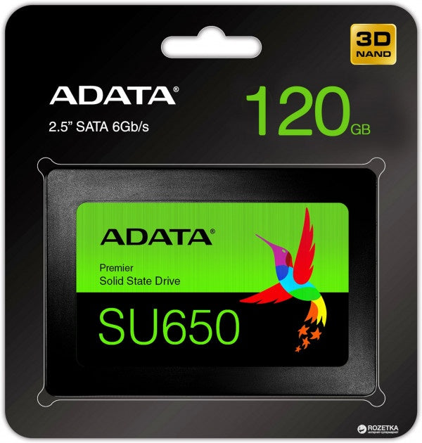 SSD Adata Ultimate SU650, 1.92TB, SATA III, 2.5'', 7mm, Blister