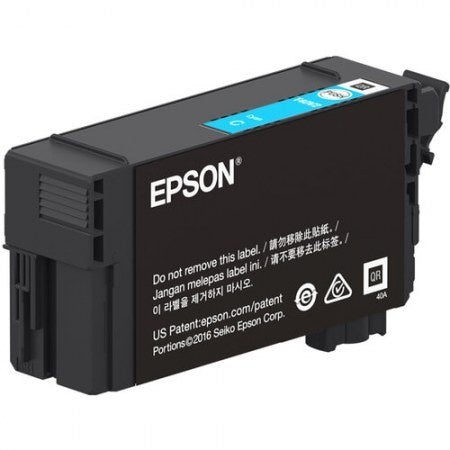 Cartucho Epson T41P Ultrachrome XD2 Alto Rendimiento Cyan, 350ml