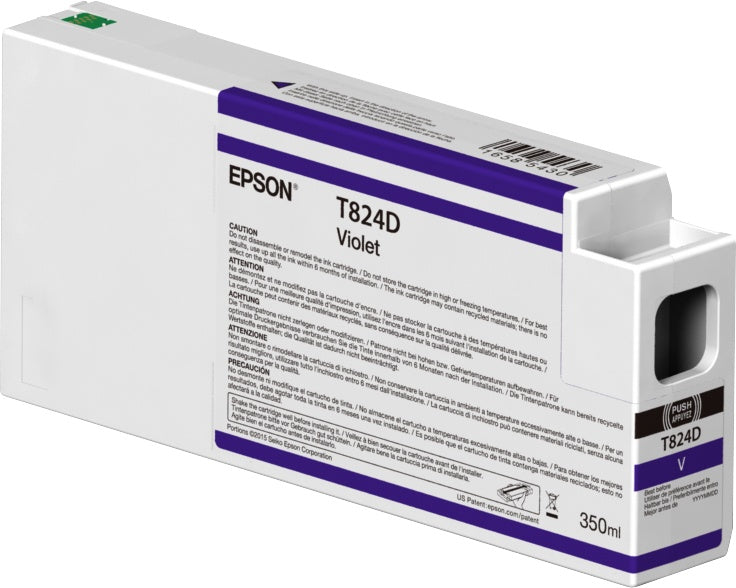 Cartucho Epson UltraChrome HDX T824D00 Violeta 350ml
