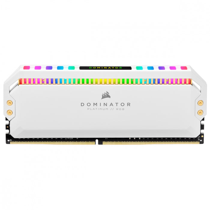 Kit Memoria RAM Corsair Dominator Platinum RGB White DDR4, 3200MHz, 16GB (2x 8GB), CL16, XMP, 1.35V