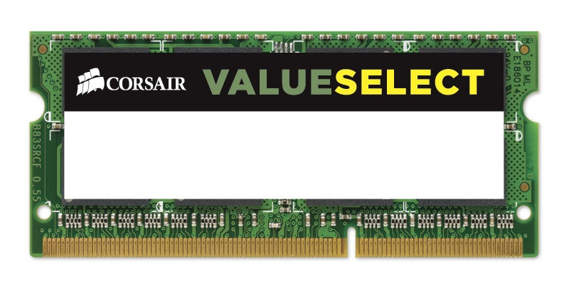 Memoria RAM Corsair Value Select DDR3L, 1600MHz, 4GB, SO-DIMM, 1.35v