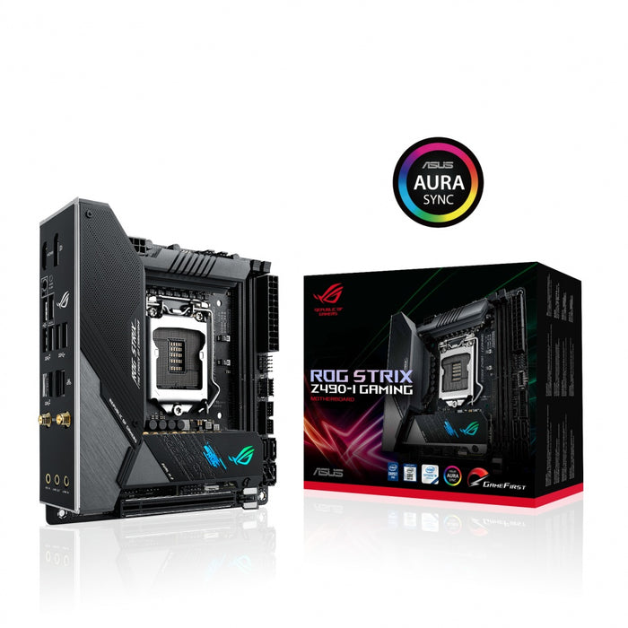 Tarjeta Madre ASUS Mini ITX ROG STRIX Z490-I GAMING, S-1200, Intel Z490, HDMI, 64GB DDR4 para Intel