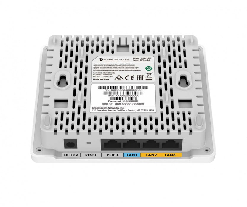 Access Point Grandstream Networks GWN7602, 1170Mbit/s, 4x RJ-45, 2.412 - 5.85GHz, 2 Antenas