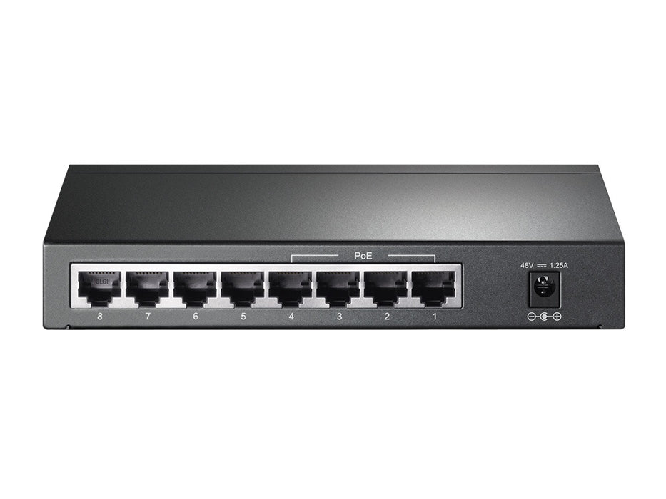 Switch TP-Link Gigabit Ethernet TL-SG1008P, 10/100/1000Mbps, 16Gbit/s, 8 Puertos, 8000 Entradas - No Administrable