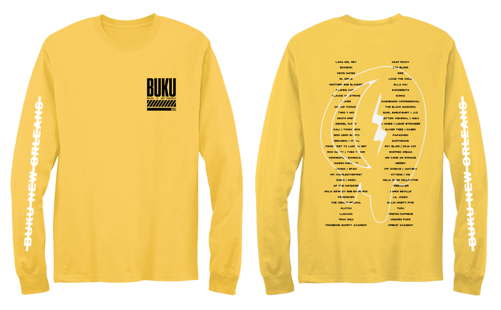 BUKU 2019 LINEUP WASHED LONGSLEEVE - YELLOW