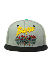 2013 BUKU Grassroots California Fitted Hat (Grey)