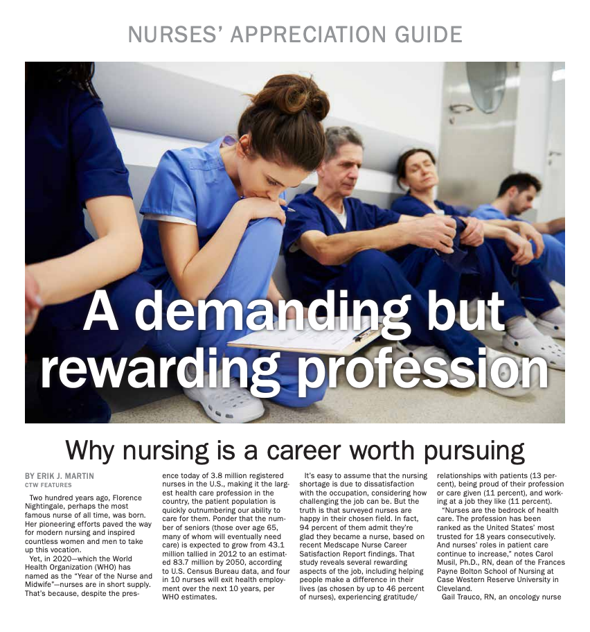 2020 Nurses Appreciation Guide
