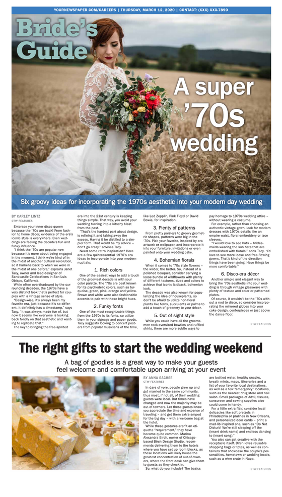 Bridal Weekly: A Super '70s Wedding