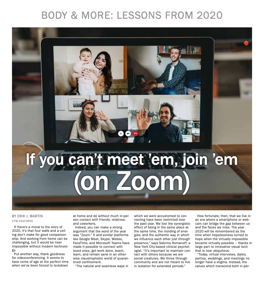 Body & More: Health 1: Lessons from 2020