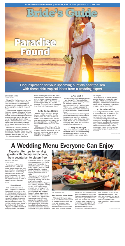 Bride's Guide Weekly: Paradise Found