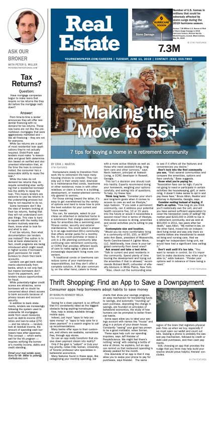 Real Estate Weekly: Making the Move to 55+