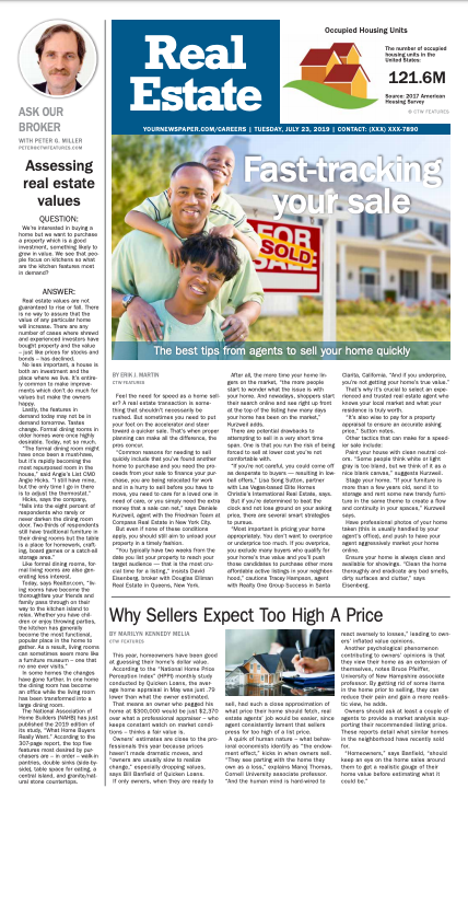 Real Estate Weekly: Fast-tracking you sale