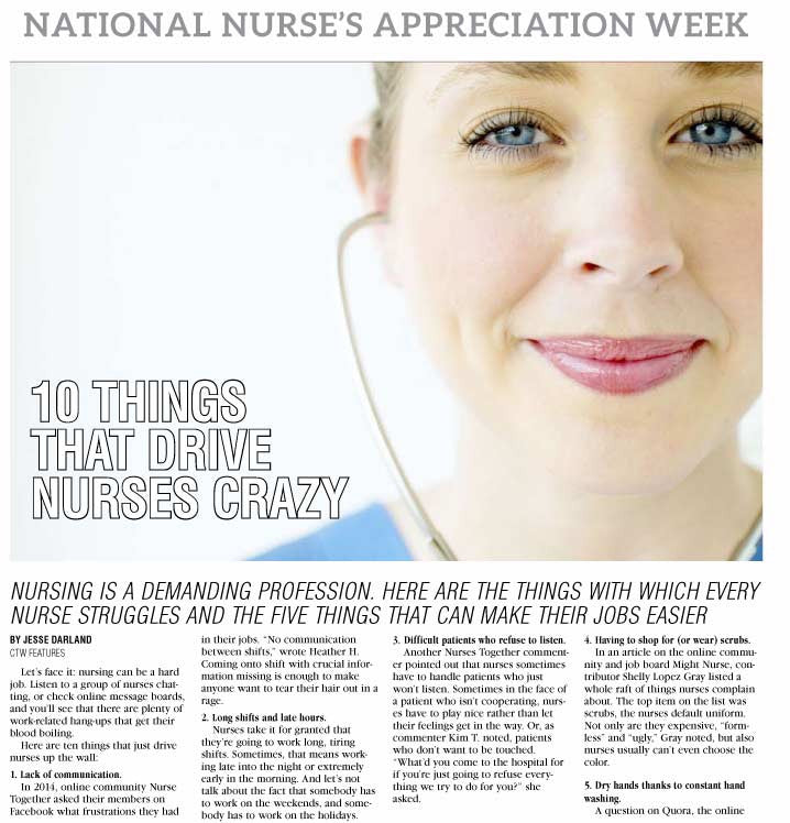 National Nurse's Appreciation Week - The Content Store