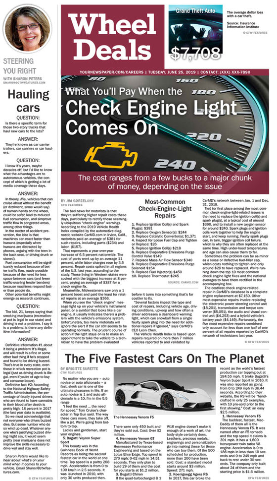 Wheel Deals: Check Engine Light