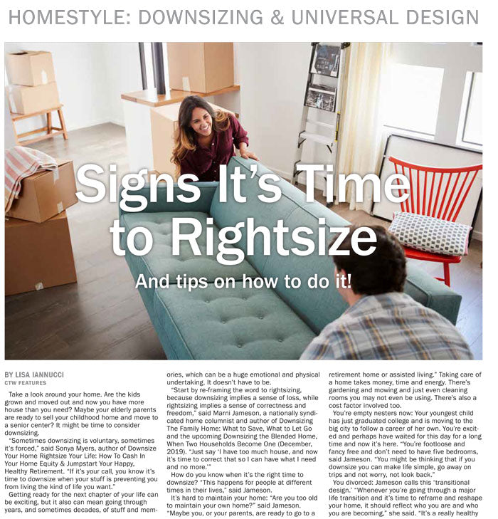 2019 HomeStyle: Downsizing & Universal Design