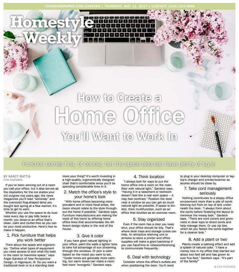 HomeStyle Weekly: How to Create a Home Office You Want to Work In