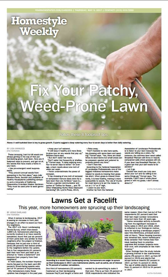 HomeStyle Weekly: Lawns - The Content Store