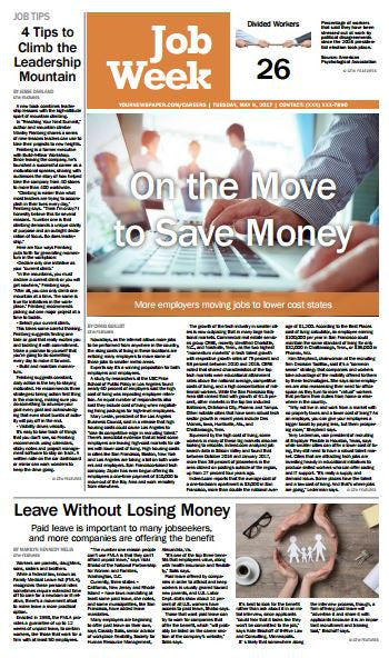 JobWeek: On the Move to Save Money - The Content Store