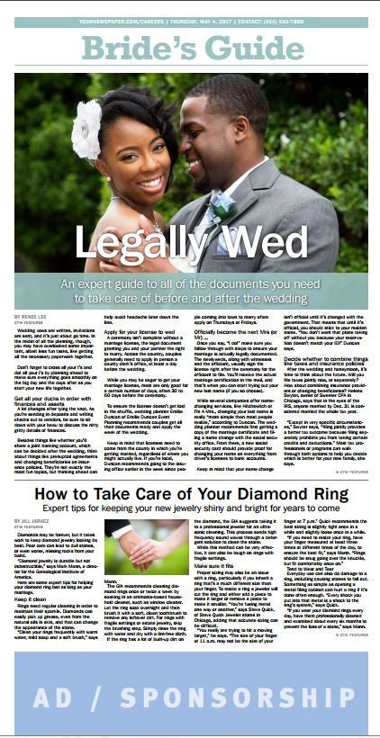 Bride's Guide Weekly: Legally Wed - The Content Store