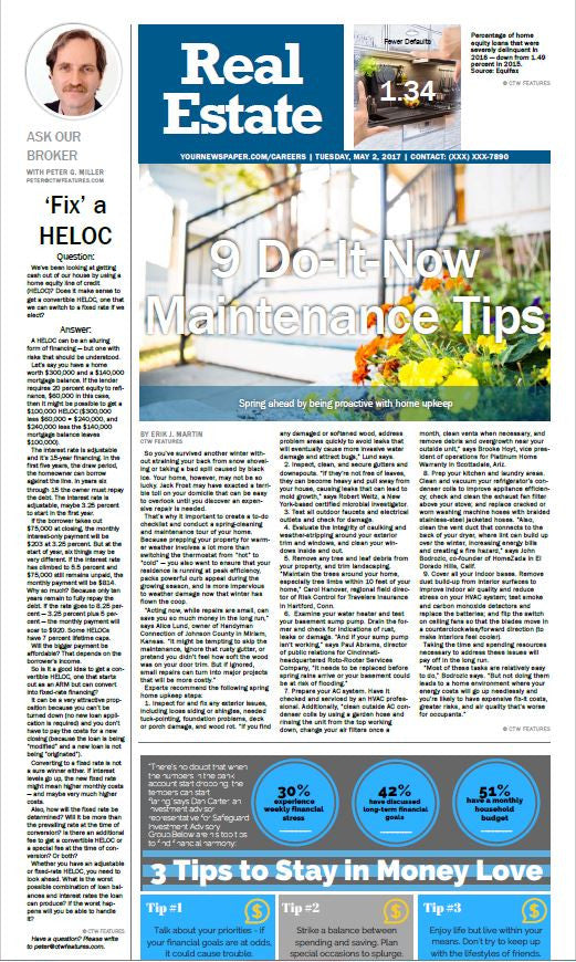 Real Estate Weekly: 9 Do it Now Maintenance Tips
