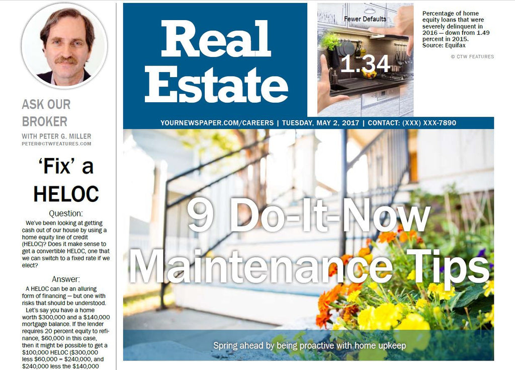 Real Estate Weekly: 9 Do it Now Maintenance Tips - The Content Store