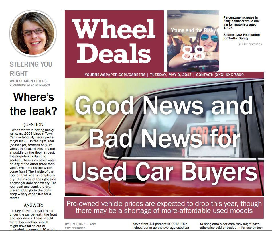 Wheel Deals: Good News and Bad News for Used Car Buyers